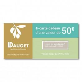 e-Carte cadeau bien-être de 50€